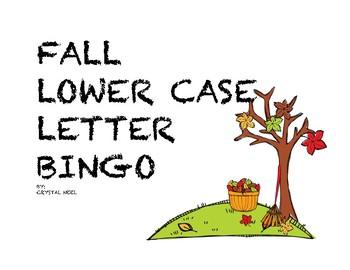 Lower Case Letter Bingo