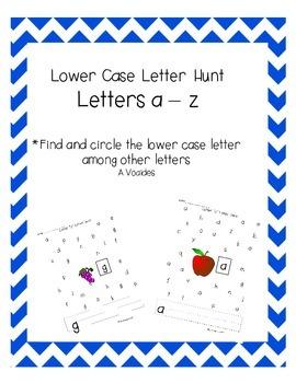 Lower Case Letter Hunt