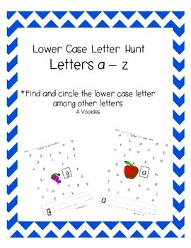 Lower Case Letter Hunt