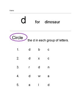 Lower Case Letter Identification (with reference)