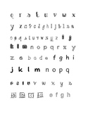 Lower Case Letter Recognition using different fonts