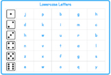 Lower Case Letter Roll and Reads