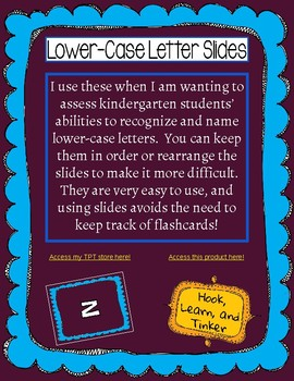 Lower-Case Letter Slides