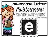 Lower Case Letter e Alphabet Center Activities