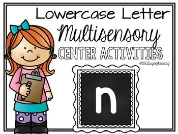 Lower Case Letter n Alphabet Center Activities
