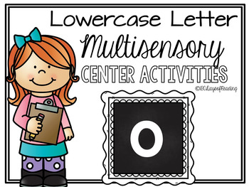 Lower Case Letter o  Alphabet Center Activities