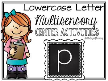 Lower Case Letter p  Alphabet Center Activities