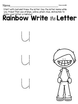 Lower Case Letter u Alphabet Center Activities