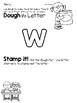 Lower Case Letter w Alphabet Center Activities