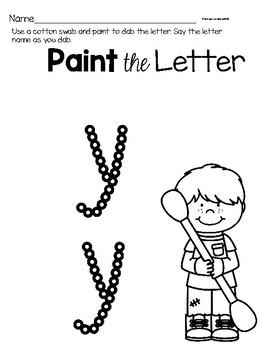 Lower Case Letter y Alphabet Center Activities