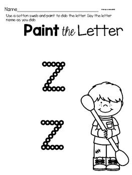 Lower Case Letter z  Alphabet Center Activities