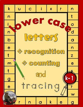 Lower Case Letters Recognition, Counting and Tracing