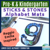 Lower Case Letters: Recognition & Formation {STICKS & STONES} Alphabet Mats