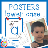 Lower Case Posters with free Coloring Pages - BLUE (pdf and png)