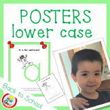 Lower Case Posters with free Coloring Pages - LIGHT GREEN (pdf and png)