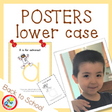 Lower Case Posters with free Coloring Pages - PEACH (pdf and png)