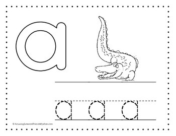 Lower Case Tracing and Coloring Sheets