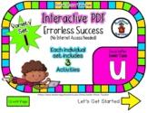 Lower Case U Set #1 - Interactive PDF - 3 Digital Activiti