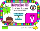 Lower Case V Set #1 - Interactive PDF - 3 Digital Activiti