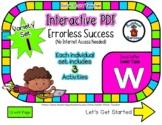Lower Case W Set #1 - Interactive PDF - 3 Digital Activiti