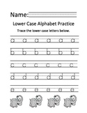 Lower Case Writing Practice