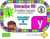 Lower Case Y Set #1 - Interactive PDF - 3 Digital Activiti