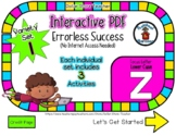 Lower Case Z Set #1 - Interactive PDF - 3 Digital Activiti