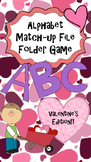 Lower Case and Upper Case Letter Match--File Folder Game
