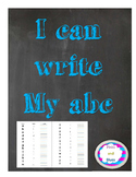 Lower Case tracing and writing practice