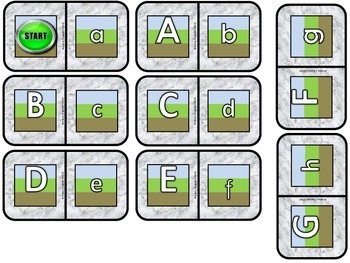 Lower Case/Upper Case Dominoes