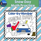 Snow Day Math Practice Color by Number Grades K-4 Bundle