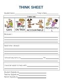 Lower Elementary Student Think Sheet