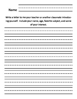Lower Elementary Writing prompts.