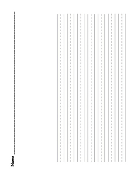 Lower Grades Lined Paper Packet