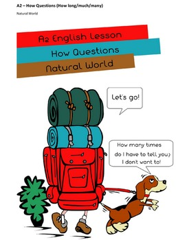 Lower Intermediate EFL/ESL Lesson Plan (A2) - How Questions - Natural World