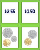Lower Primary Australian Money Flash Cards WAR/Memory/GoFish