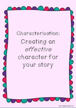 Lower Primary Characterisation Prompt - Build your character for your story!
