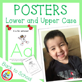 Lower and UPPER CASE Posters with Coloring Pages - LIGHT GREEN (pdf and png)
