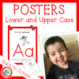 Lower and UPPER CASE Posters with Coloring Pages - RED (pdf and png)