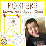 Lower and UPPER CASE Posters with Coloring Pages - YELLOW (pdf and png)