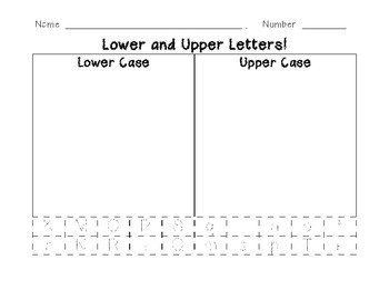 Lower and Upper Case Letter Trace and Sort