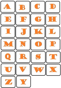 Lower-case and Upper-case Alphabet Cards