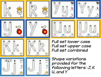 Alphabet Playdough Mats with letter formation cues