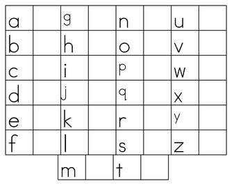 Lower case letter writing worksheet