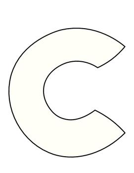 Lower case (or upper case) Letter C Craft