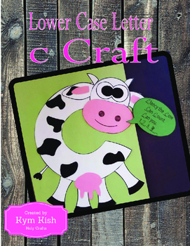Lower Case Or Upper Case Letter C Craft By Holy Crafts Tpt