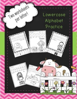 Lowercase A-Z worksheets