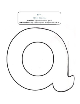 Lowercase Alphabet Art for Wall or Book Free Printable D'Nealian letters