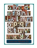 Lowercase Alphabet Art for Wall or Book Free Printable D'N