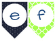 Lowercase Alphabet Banner {Preppy Nautical Theme!}